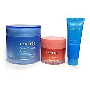 Laneige Water Sleeping Mask 2.37oz(70ml) + Laneige Lip Sleeping Mask 0.7oz(20g) + Laneige Water bank Gel Cream 0.34oz(10ml)