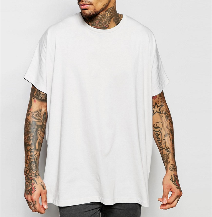 China Supplier Factory Price Cool Summer Oversized T-Shirt In Off White Loose Fitting
