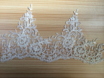 Wedding Veil Lace Fabric/bridal Beaded Lace Trim Wholesale 24cm ...