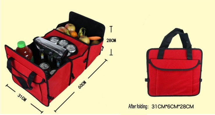 Oempromo custom car travel storage bag organizers with cool bag