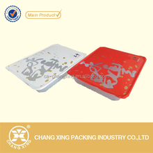 PP/PE/PET/CPP plastic frozen sea food container cup sealing film with logo printing