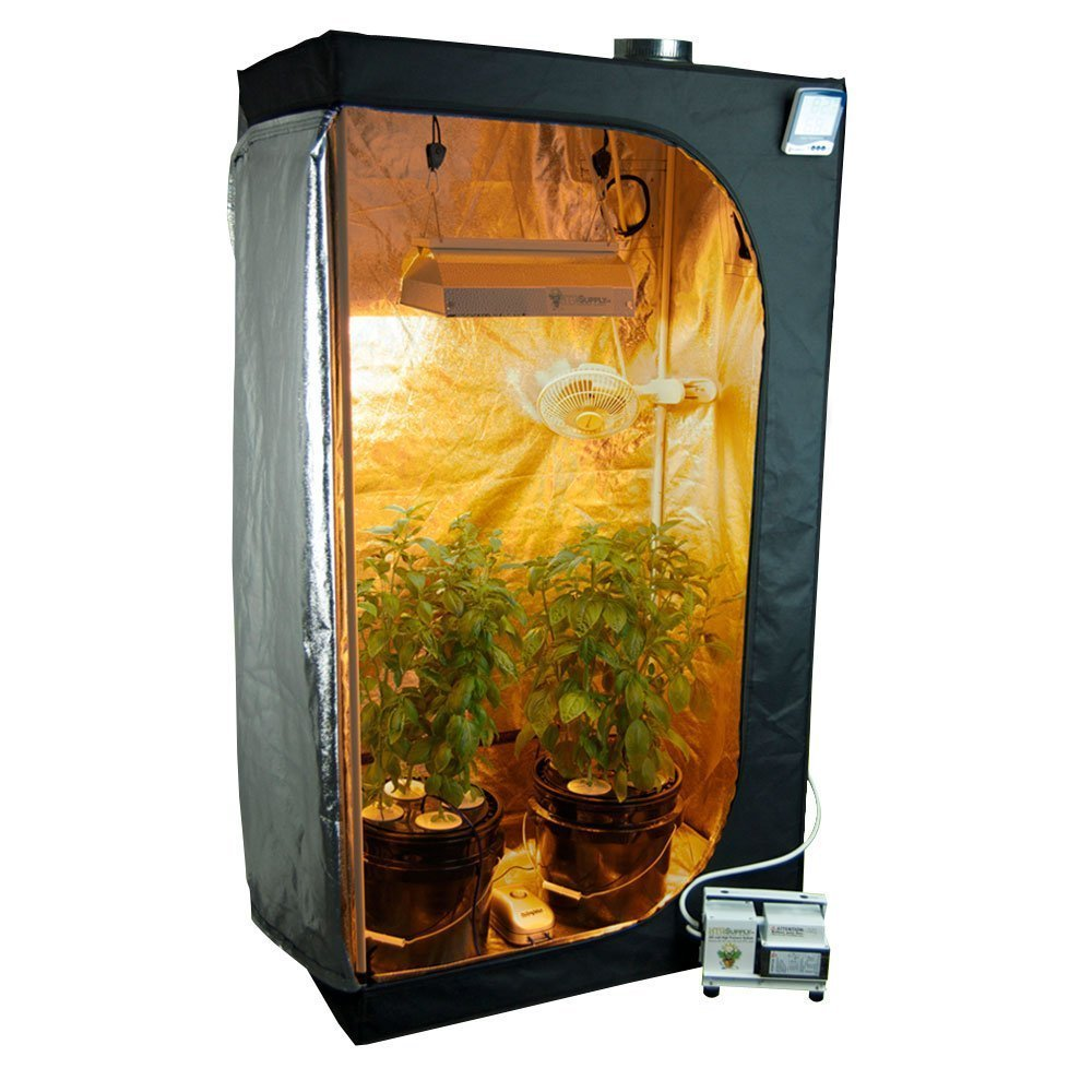 Complete Grow Tent Package 250 Watt Hps Light System With Dwc Hydroponic