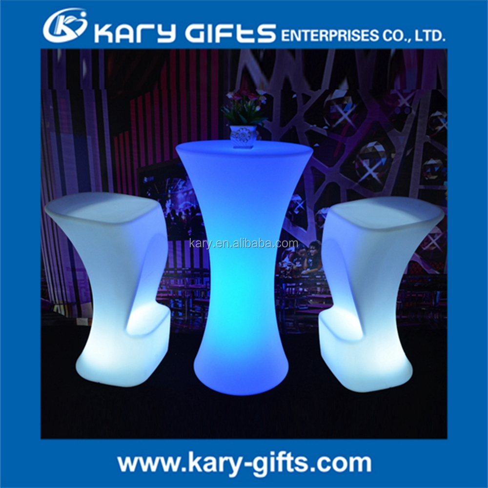 Hot Sale Rechargable LED Event Gardon Furniture Bar Table
