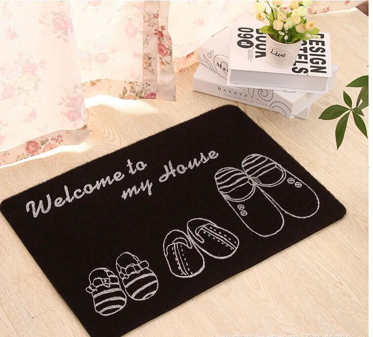 3 tailles bienvenue tapis antid rapants paillasson rub. Black Bedroom Furniture Sets. Home Design Ideas