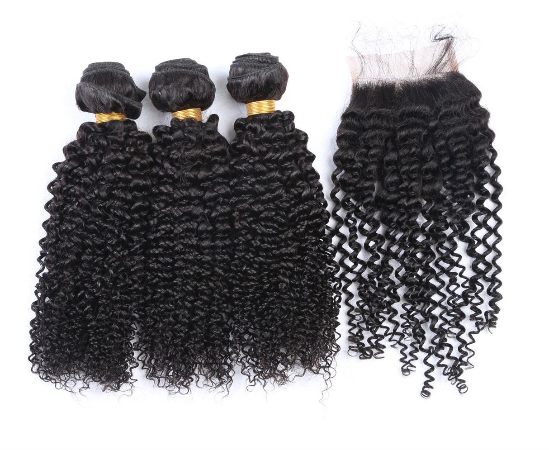 Season promotion 100% mink brazilian bulk 10 a grade curly cuticle aligned deep wave human hair bundles, Natural color