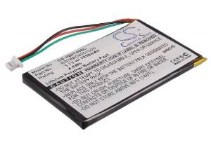 Battery2go - 1 year warranty - 3.7V Battery For Garmin Nuvi 1490T Pro, Nuvi 1400, Nuvi 1450