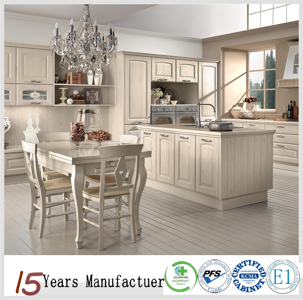 Luxury Kitchen Customized Solid Wood Kitchen Cabinets