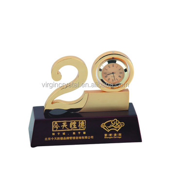 Personalized 20 years anniversary company souvenir gifts with clock  sc 1 st  Alibaba & Personalized 20 Years Anniversary Company Souvenir Gifts With Clock ...