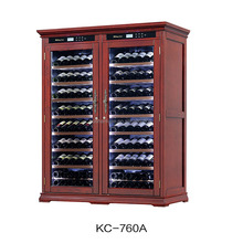 216-292 bottles capacity dual zone compressor refrigerator wood wine cooler cabinet