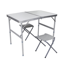 2 person camping picnic travel dining outdoor work study foldable table with 2 chairs