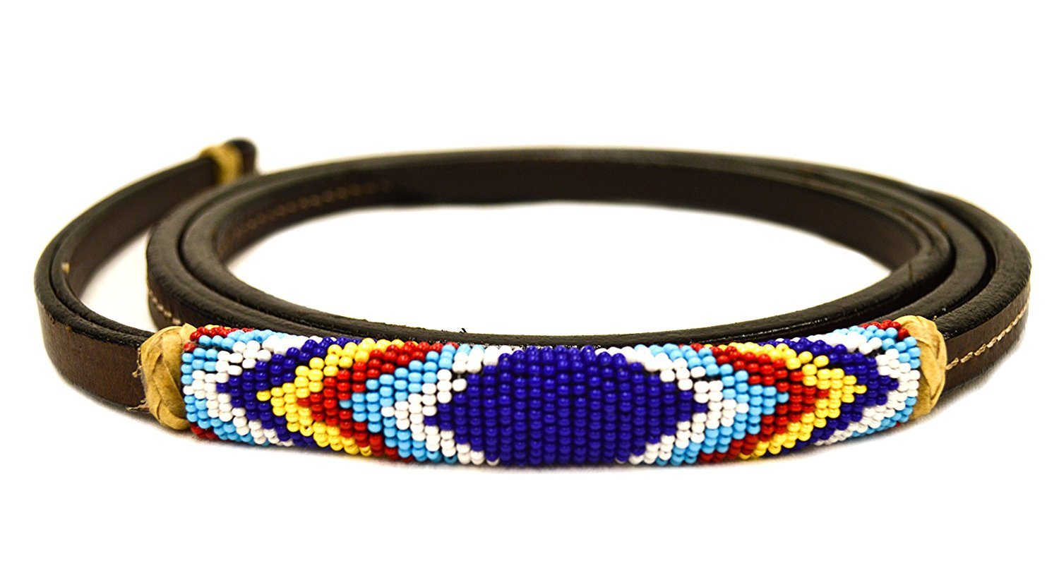 Beaded Leather Over Under Whip Navajo