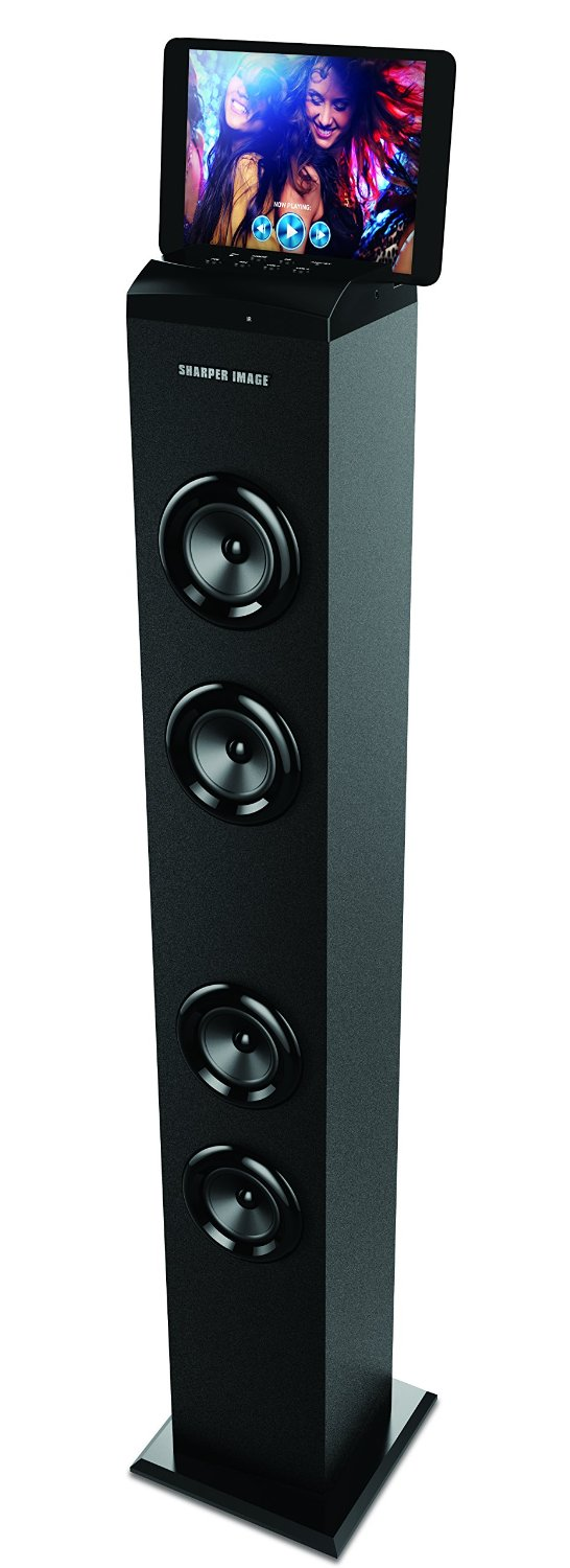 Buy Sharper Image Premium Bluetooth Tall Tower Stereo Speaker With