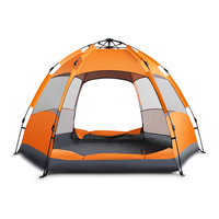 Factory Price 5-7 People Lager Double Layers Family Hiking Folding Waterproof Camping Tent Cot