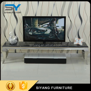Living Room New Model Laminate TV Cabinet With Showcase DS002