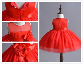 2018 New Baby Cute Dress Kids Girls 4 Colors 1year Old Birthday Dresses