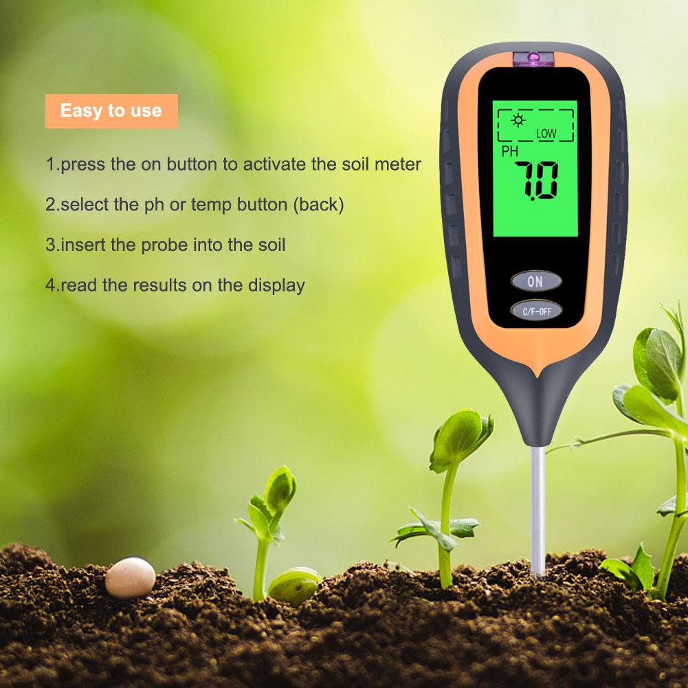 Suelo pH metro tester medidor de tierra verduras jardín Nuevo