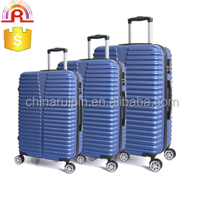 China wholesale high quality blue ABS hardshell spinner suitcase