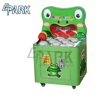 kids whack the mole lottery machine frog jump hammer arcade game machine