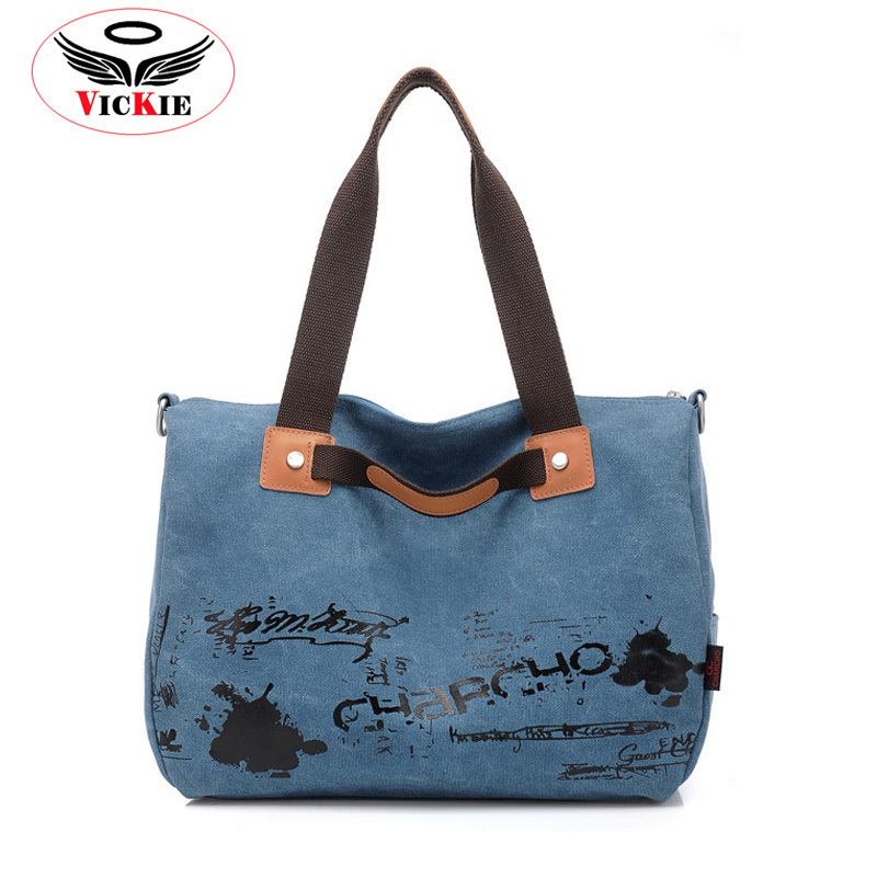 Canvas Woman Shoulder Bag Fashion Letter Women Messenger Bag Large Capacity Lady Handbag High Quality Vintage Totes Graffiti T42