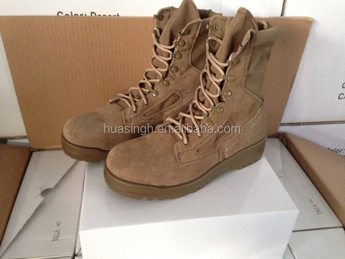 Made in China USMC approved unisex Belleville tan hot weather military desert boots