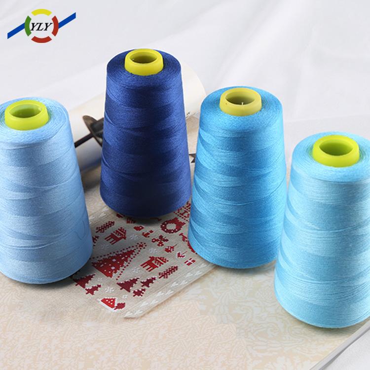 dyed pattern and high strength bag packing sewing thread