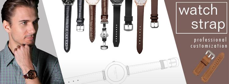 고전적인 이탈리아 진짜 가죽 나토 시계 스트랩, 사용자 정의 크기를 사용할 수 있습니다