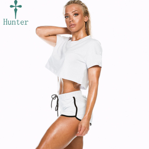 Wholesale Moisture Wicking Fitness Sports Wear Women Organic Cotton Short Sleeve T Shirt