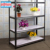 Factory price white light duty waterproof household 4 tier metal goods shelf / display rack