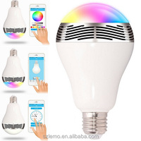 Bluetooth Control Smart Music Audio with colour Plastic LED Bulb Lamps wireless bluetooth speaker