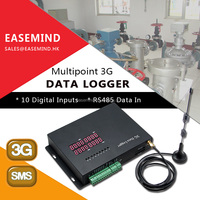 RS485 Data In Temperature Humidity Monitoring 3g data logger sms alarm