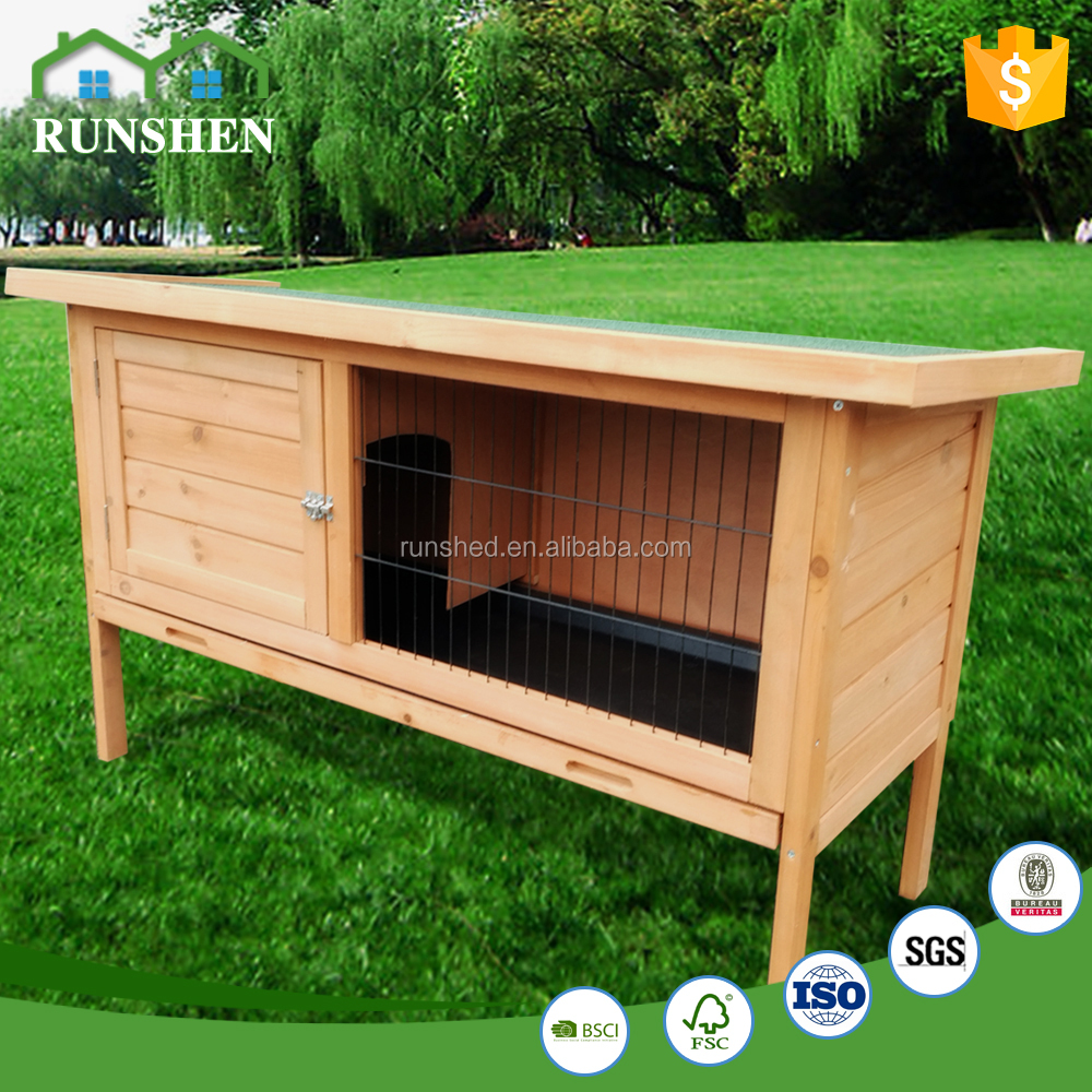 Pas cher lapin maison intérieur clapier facile de nettoyage actif toit
