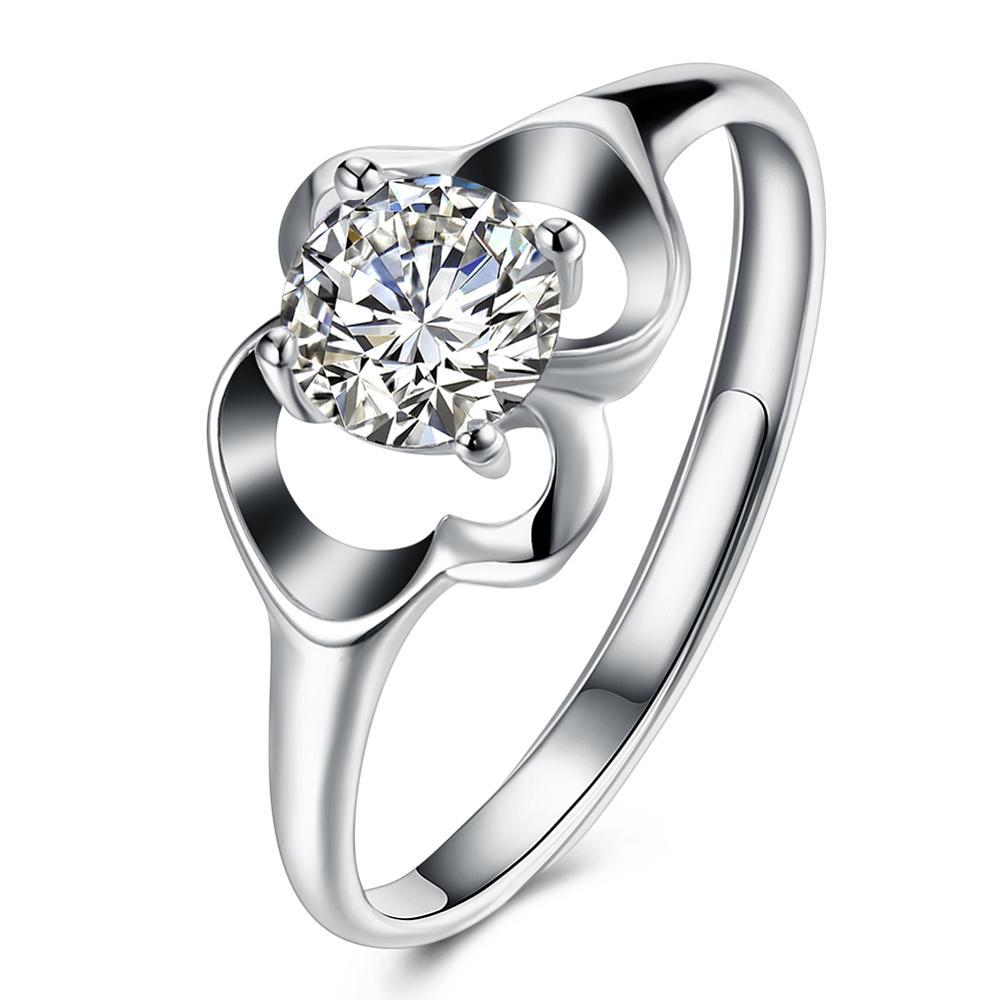 2018 Women Fashion Jewelry 925 Silver White Zircon Wedding Brand Zircon Ring фото