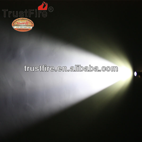 TrustFire Z8 streamlight flashlight CREE XM-L XML T6 LED aluminum 1000lm (1x AA / 1x 14500 3.7v Battery) from original factory