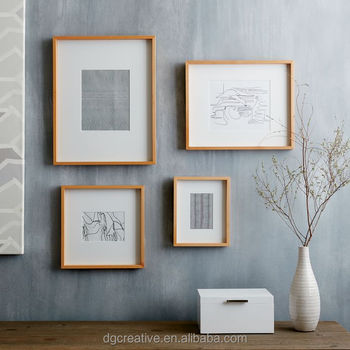 Thin Wood Gallery Frames - Bamboo - Buy Handmade Wood Photo Frame ...