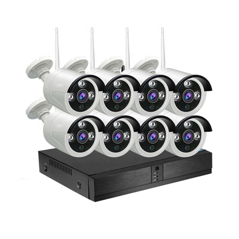 フル hd 1080p cctv システムキット nvr ip カメラワイヤレス 4CH 8CH リモコン防水無線 lan ip nvr キットセキュリティカメラシステム