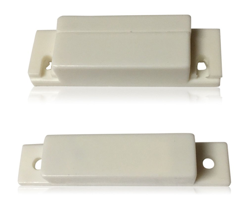 """10 pcs White Door Contacts Surface Mount NC Security Alarm Door Window Sensors. These ¾"""" Door Contact Position switches (DCS) Work with All Access Control and Burglar Alarm Systems"""