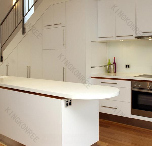 Kkr aangepaste goedkope steen kleine witte keuken bar voor thuis ...