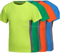 Eco-friendly material custom 100% polyester dry fit plain sports t-shirt