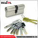 Hot sale best brass high security euro Italy profile double open cylinder lock
