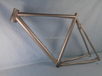 Disc brake 700C Cyclocross titanium frame with FlatTube