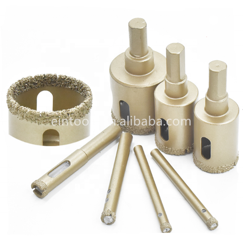 55MM diamond brazed Triangle shank glass <strong>hole</strong> saw concrete diamond core drill bits for ceramic stone