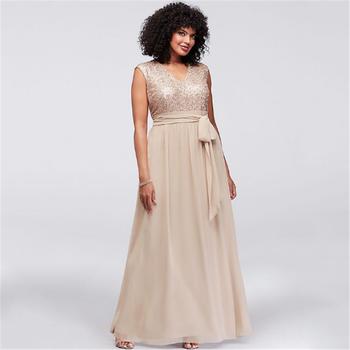 Fashion Bridesmaid Wedding Prom Party Plus Size 4xl 5xl 6xl Champagne  Glitter Evening Dresses - Buy Champagne Long Evening Dresses,Plus Size  Women ...
