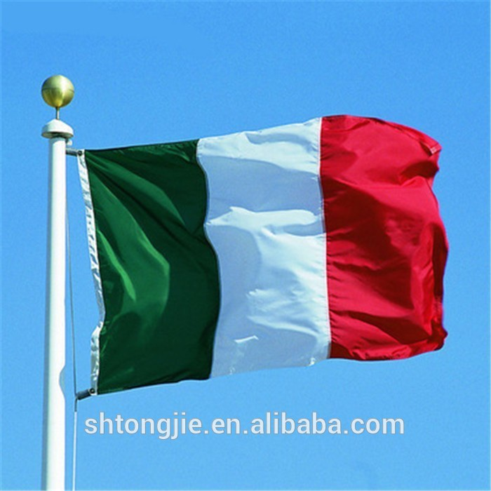 China maker flying bunting italian red white green flags