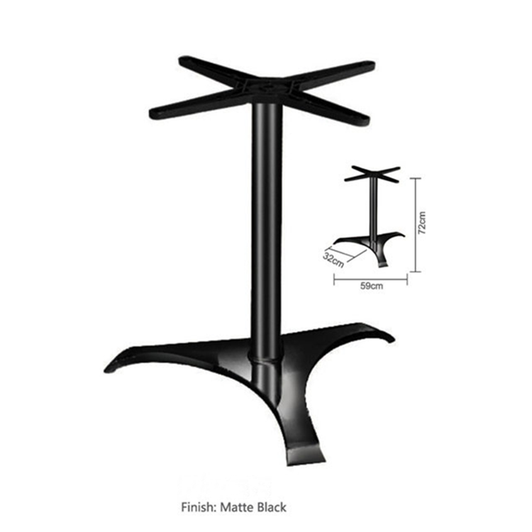 China Wholesale Factory Price Table Base Restaurant Used Black Cast Iron Table Base