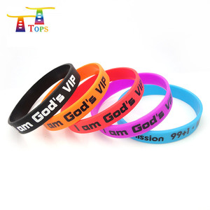 wholesale custom silicone wrist band/rubber bracelet
