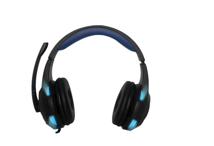 Newest and popular Customize Logo led Stereo wired headband headphones