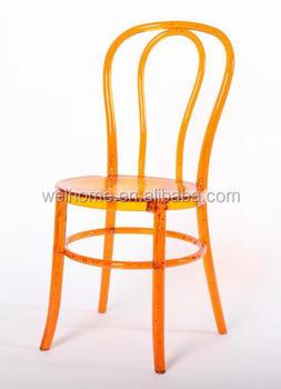 cheap clear acrylic thonet chair transparent plastic thonet chair wholesaler