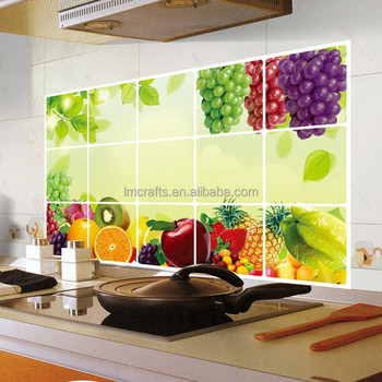 Pola Dapur Aluminium Tembaga Tahan Air Foil Stiker Bukti Minyak Kertas Dinding Decal Dekorasi