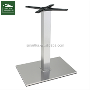 Modern Style Brushed Stainless Steel Metal Dining Table Bases - Stainless steel dining table base suppliers