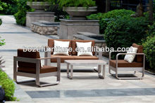 Modern fashion sofa furniture outdoor / Brushed aluminum furniture garden sofa